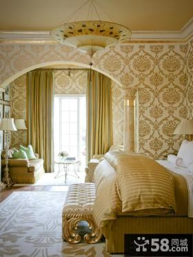 卧室壁纸欧式花纹图片