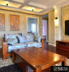 美式客厅家具图片