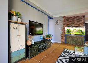 地中海仿古客厅电视背景墙效果图欣赏