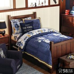 美式风格儿童房实木床效果图片