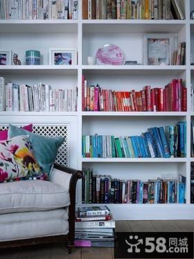 情迷地中海风格复式楼书房博古架装修效果图大全2012图片