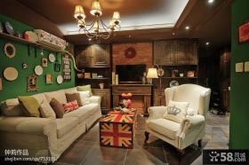 简装客厅电视背景墙效果图