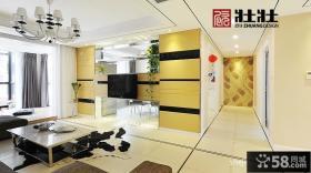 现代简约客厅电视墙装修设计图