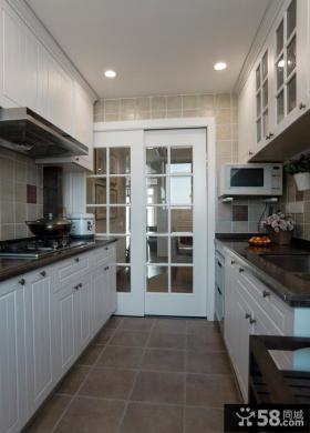 美式乡村风格厨房装修图