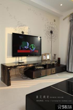 现代风格客厅壁纸电视背景墙效果图