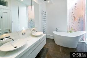 现代风格卫生间浴室柜效果图