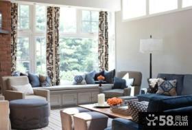 北欧设计装修客厅飘窗图片