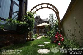 别墅露天阳台花园设计效果图