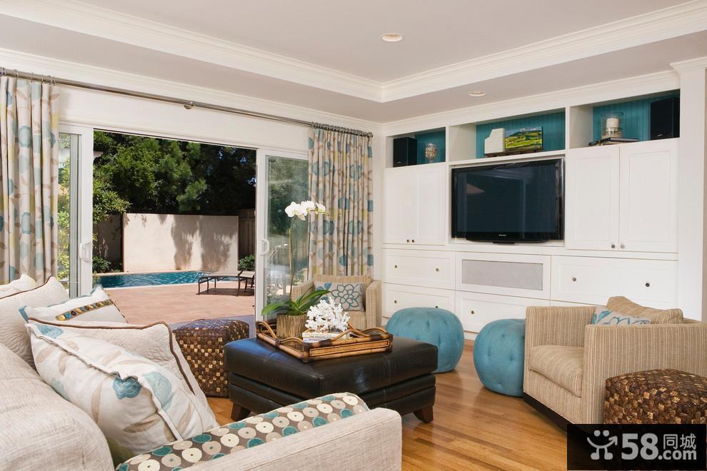 客厅电视柜背景墙设计效果图