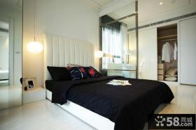 90平小户型现代感十足的卧室装修效果图大全2014图片
