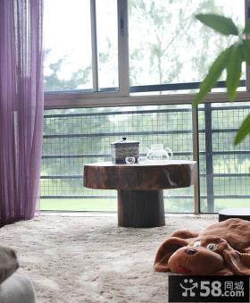 东南亚风格客厅阳台茶桌图片欣赏