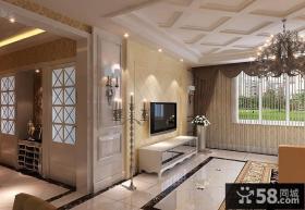 欧式客厅电视墙设计
