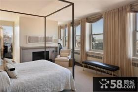 北欧清新的复式楼卧室窗帘打造一个温馨的家