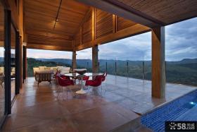 豪华别墅开放式阳台设计效果图欣赏大全