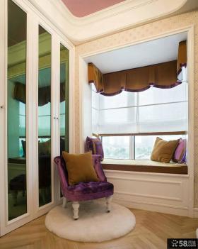 美式别墅设计室内飘窗装修图片