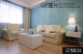 简约地中海风格客厅沙发效果图