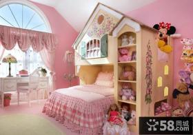 粉色豪华公主卧室效果图