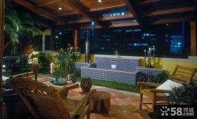 东南亚风格顶楼阳台装修效果图