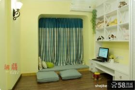 美式乡村风格70平米小户型客厅飘窗装修效果图