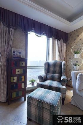 美式风格窗帘效果图欣赏