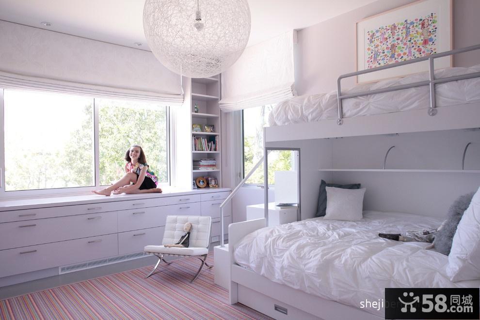 上下铺儿童床设计效果图欣赏