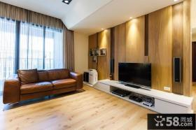 木质客厅电视背景墙