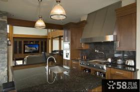 古典欧式厨房橱柜效果图大全2014图片