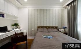 美式家居卧室窗帘图