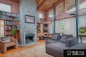 别墅装修效果图 美式现代客厅效果图
