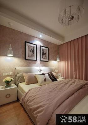 卧室照片背景墙壁纸效果图