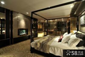 15平米主卧室电视背景墙装修效果图