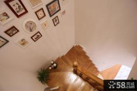 韩式田园风格复式楼梯图片