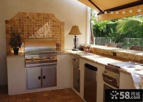 复式户型阳台改厨房装修效果图