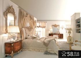 欧式复古风格卧室装修效果图