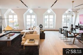 现代风格时尚客厅带餐厅设计效果图