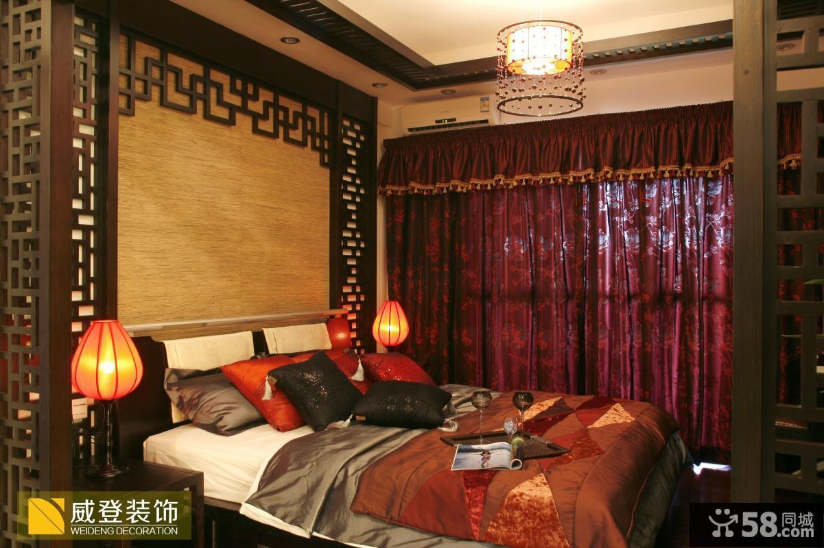中式风格小户型卧室装修效果图