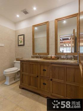 美式田园风格别墅卫生间设计欣赏