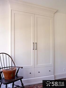 白色简约衣柜设计大全