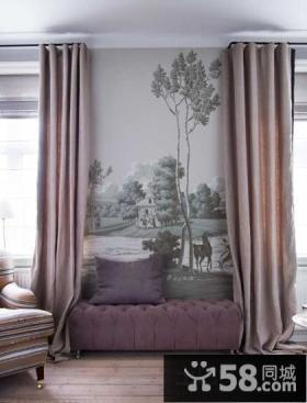 客厅沙发背景墙彩绘装修效果图