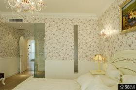 卧室精美碎花壁纸图片大全