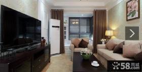 美式风格客厅家具摆放图片