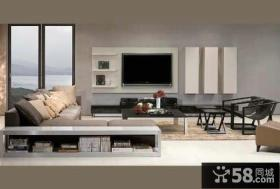 北欧时尚设计12平米客厅电视背景墙