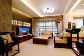 新中式风格别墅客厅装修图