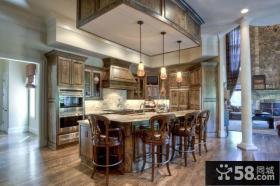 美式家装设计厨房效果图欣赏大全