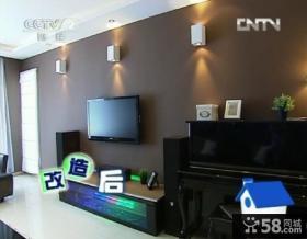 交换空间小户型暗色调电视背景墙装修效果图