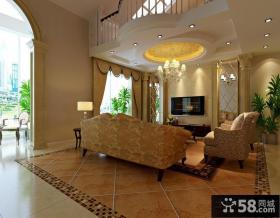 新古典装修图片 新古典客厅吊顶装修效果图