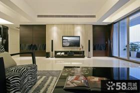 家庭时尚客厅装修电视背景墙图片大全