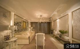 法式家居客厅吊顶设计图片
