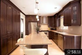 美式厨房整体橱柜效果图片欣赏
