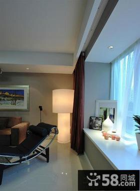现代简约风格客厅飘窗装修设计图片